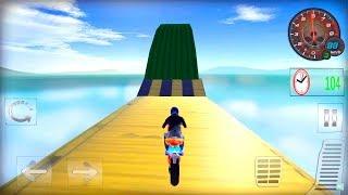 Impossible Motor Bike Stunt 3D Tracks Simulator #Dirt Motor Cycle Racer Game #Bike Games