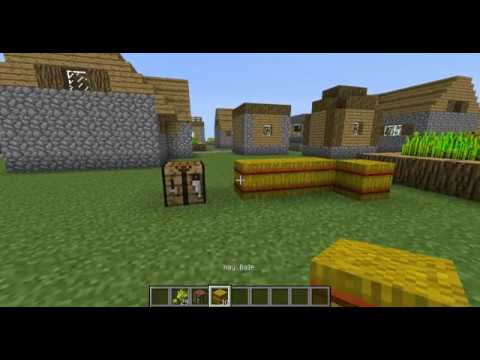 Comment faire un bloc de paille minecraft 1 6 2 tuto youtube - Comment faire une laisse dans minecraft ...