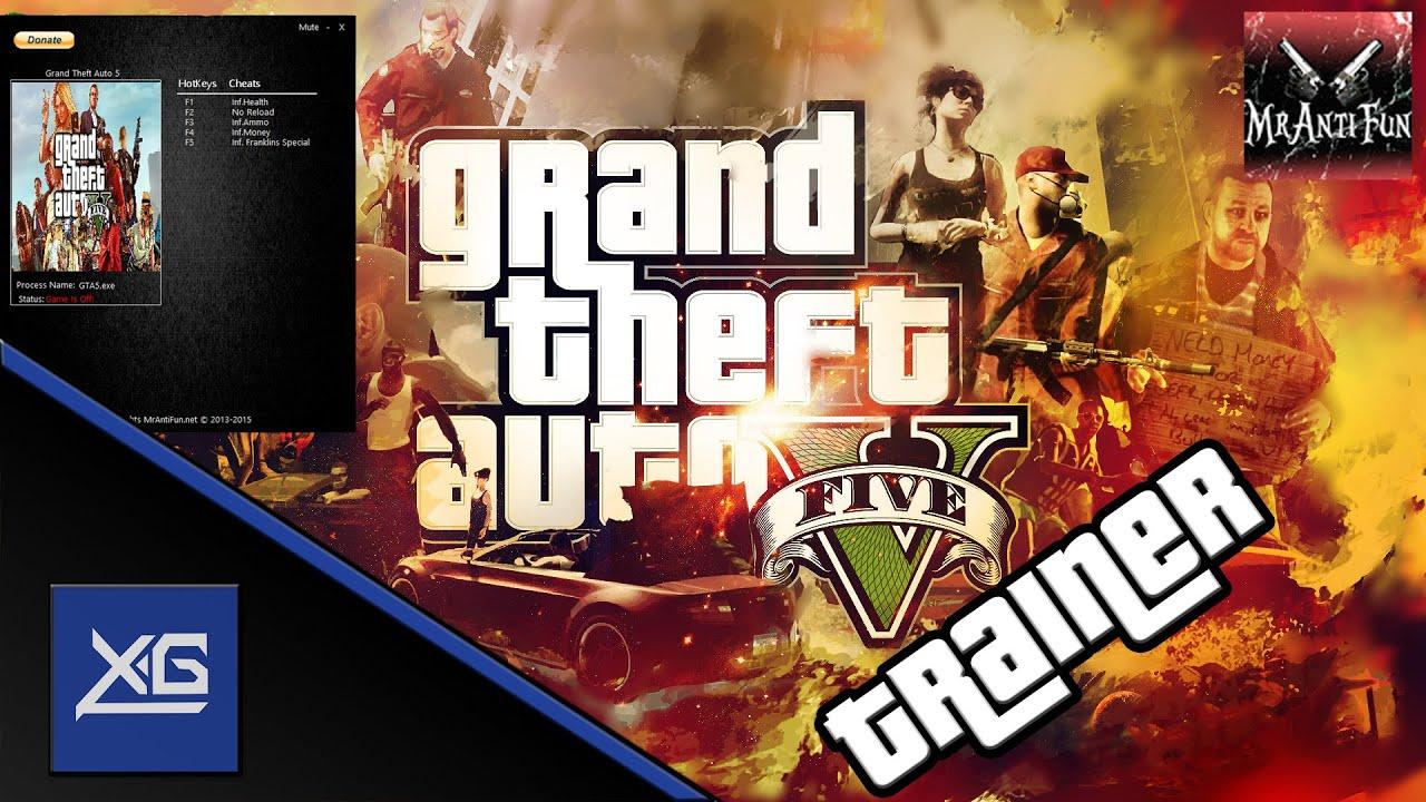 GTA V: PC Trainer Gameplay (Mrantifun)