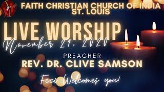 FCCIndia Live Worship 11/29/2020 | FCCI St. Louis