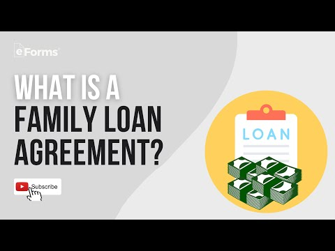 What Is A Family Loan Agreement? EXPLAINED