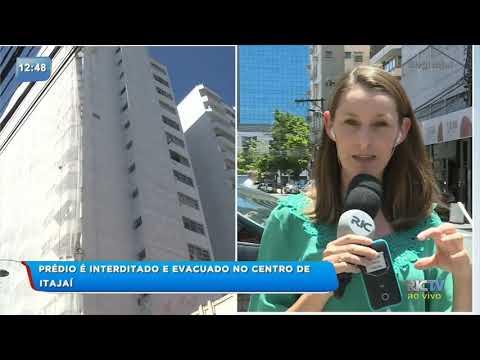 Prédio é interditado e evacuado no centro de Itajaí