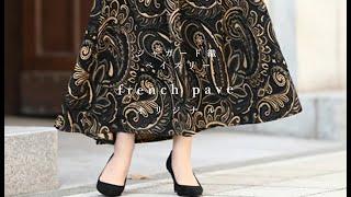 frenchpaveオリジナル  ジャガード織ペイズリースカート  f00002