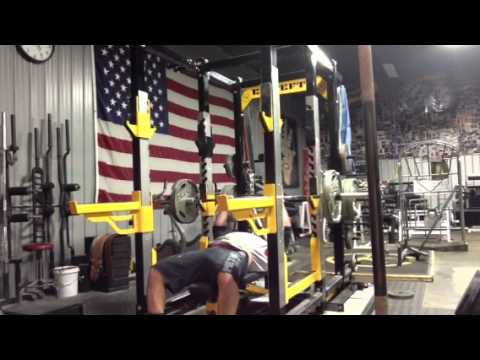 elitefts.com — Close Grip Bench Press with Shoulder Saver Pad (Cluster Set)