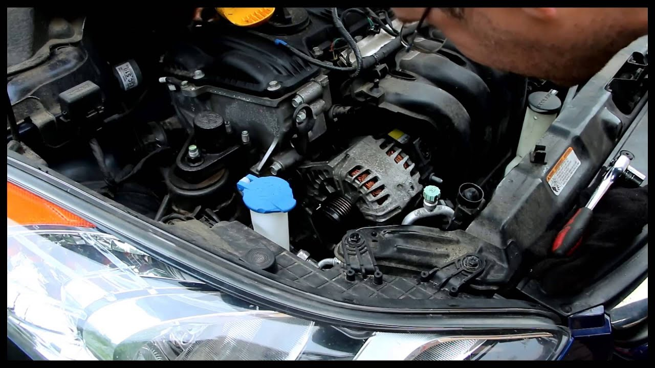 hight resolution of hyundai elantra 2013 alternator and serpentine belt