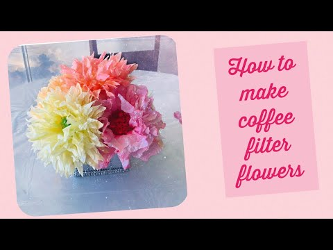 Quick and Easy  Paper Flowers ||Coffee filter flowers ||paper flowers