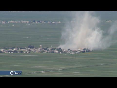قتلى وجرحى باستهداف ميلشيا أسد الطائفية عدة بلدات بريف حماة - سوريا