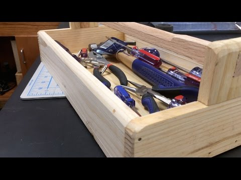 Building a tool tray from pallet wood youtube for Tools to build a house