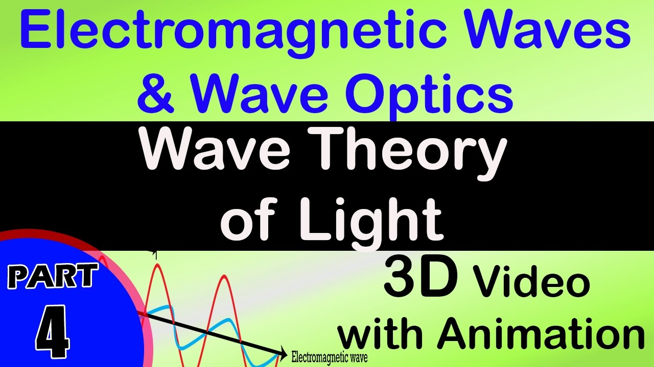 Wave theory of light |class 12 physics subject notes lectures  CBSE|IITJEE|NEET