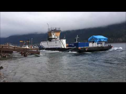 Adams Lake Cable Ferry Launch - March 2017 - 3GA Marine Ltd.