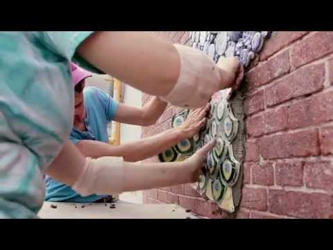 Mosaic mural installation