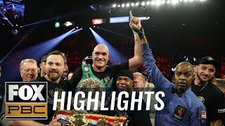 Tyson Fury TKO's Deontay Wilder for heavyweight title | FULL HIGHLIGHTS | PBC ON FOX