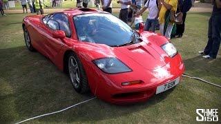 Red McLaren F1 in Convoy to Wilton 2014