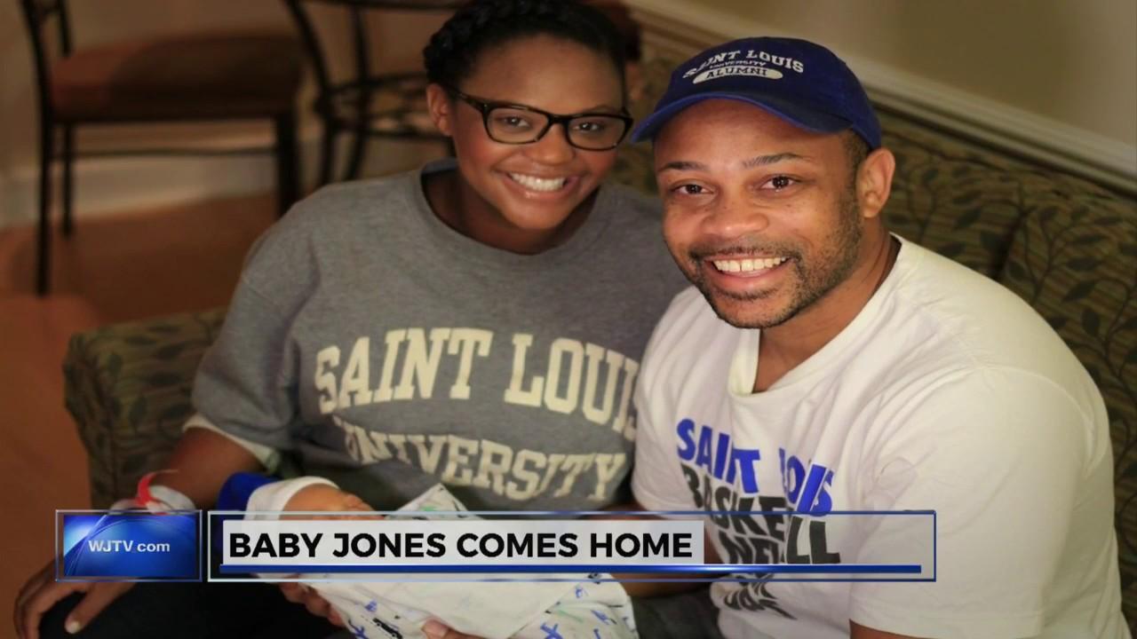 Brittany Noble-Jones brings baby Michael Jones home 10252016