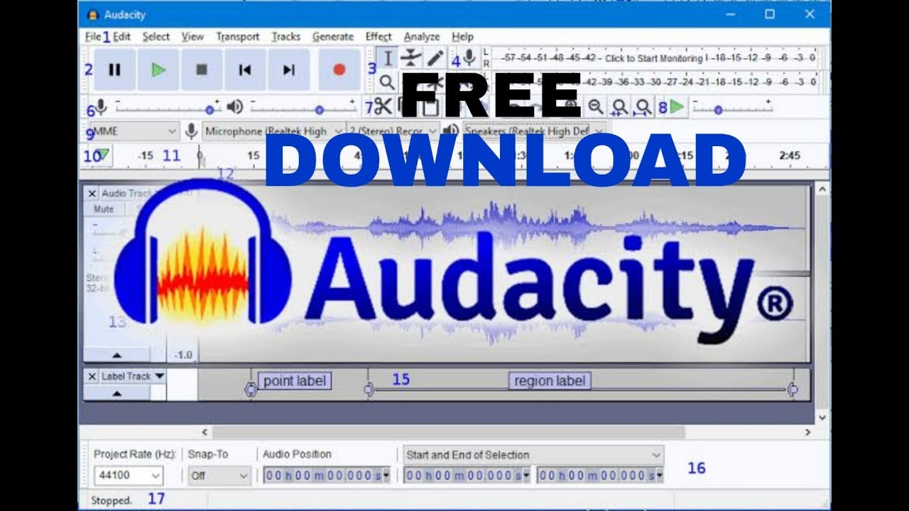 Audacity software free download windows 7