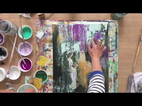 Collage Art, Tutorial, Acryl, Abstract, Painting, Schritt Für Schritt Anleitung