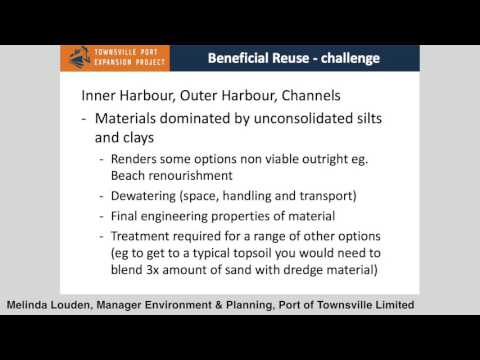 Port of Townsville - Dredge Material Placement Options -  Melinda Louden