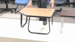 OfficeChairsToday.com   Video On OFM Model ET2020 End Table With 4 Legs