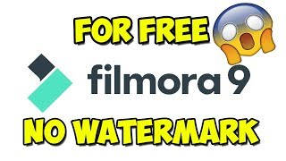 How to remove the watermark from filmora 9