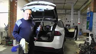 Ремонт. Авто пневмоподвески Tesla Model X. Разборка электромобилей.