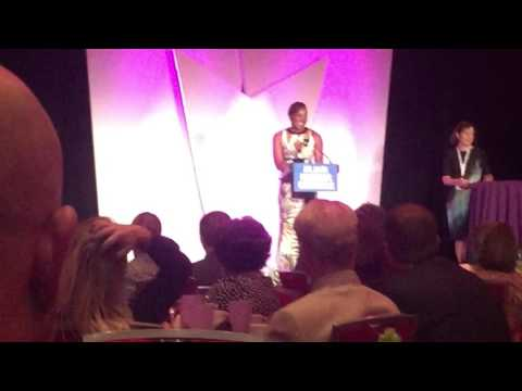 Atlanta Business Chronicle Awards Dr. Novellus during the Women Who Mean Business Ceremony