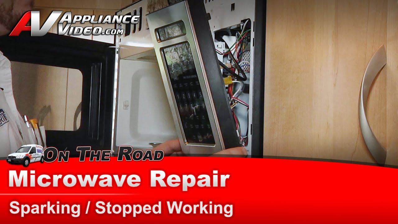 microwave diagnostic repair sparking stopped working frigidaire electrolux plmv169dcd
