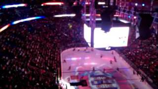 Entrée sur la patinoire des Canadiens de Montréal le 8 mars 2011