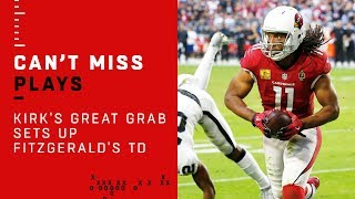Christian Kirk's Great Grab Sets Up Larry Fitzgerald's 2nd TD Catch!