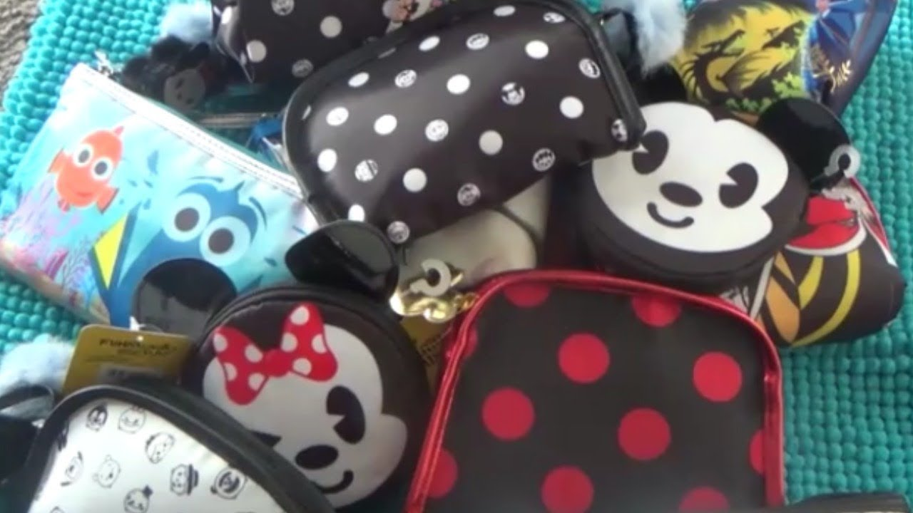 99 Cent Only Store Haul Lots Of Makeup Bags Disney Youtube