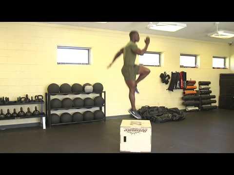 Marines Force Fitness-Box Tuck Jump Single Leg