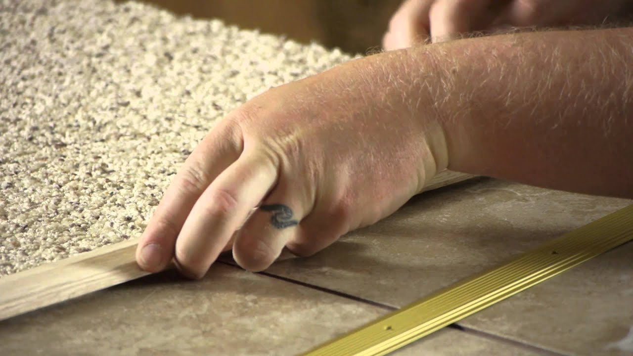 Carpet to tile transition pieces carpet installation help carpet to tile transition pieces carpet installation help youtube dailygadgetfo Images