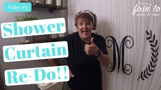 Monogramed Shower Curtain | Guest Bathroom Spruce Up | Video #3