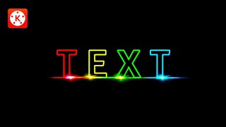 How to make a LIGHT TEXT in Kinemaster | Kinemaster Tutorials | Tech Share Tamil