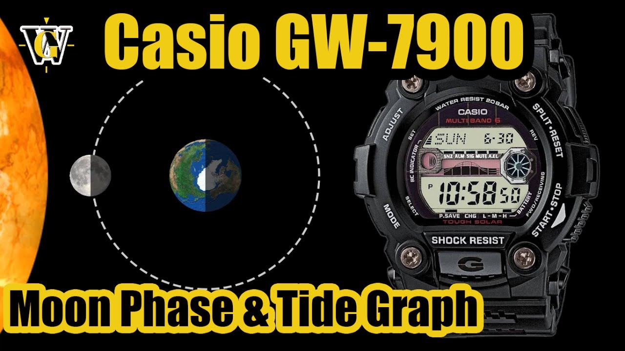 Casio Gw 7900 Moon Phase Tide Graph Function How To Setup And