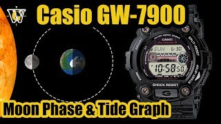 Casio Gw 7900 Moon Phase & Tide Graph Function - How To Setup And Use