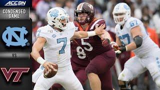 North Carolina vs. Virginia Tech Condensed Game   ACC Football 2019-19