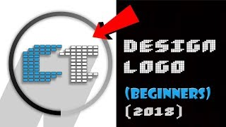 How To Make / Design Logo In Photoshop | Tutorial For Beginners | BASIC | 2018  ✔