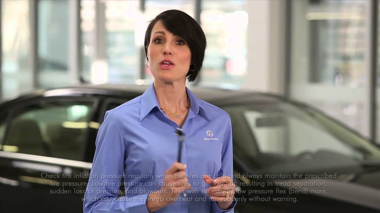 How to Check Tire Pressure   Official VW Service and Parts Videos