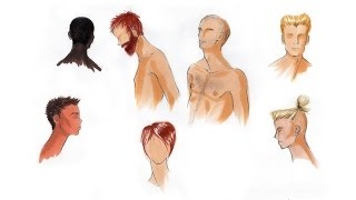 How to Draw and Illustrate Short Hair, Body Hair, and Facial Hair