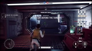 Star Wars Battlefront II playing  with squad
