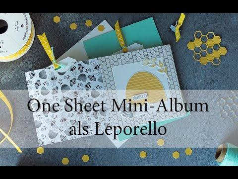 One Sheet Minialbum als Leporello