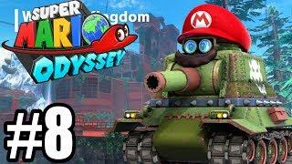 JESTEM... CZOŁGIEM?! - Let's Play Super Mario Odyssey #8 [NINTENDO SWITCH]