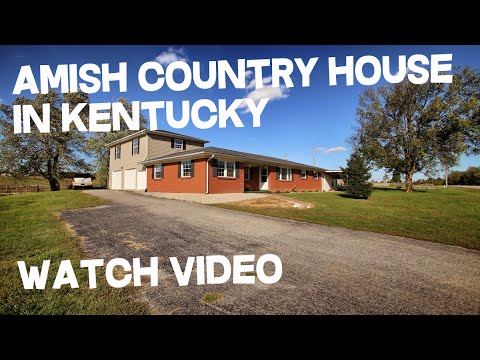 1.5 acre Kentucky Farm Land + BIG House For Sale in Amish Country