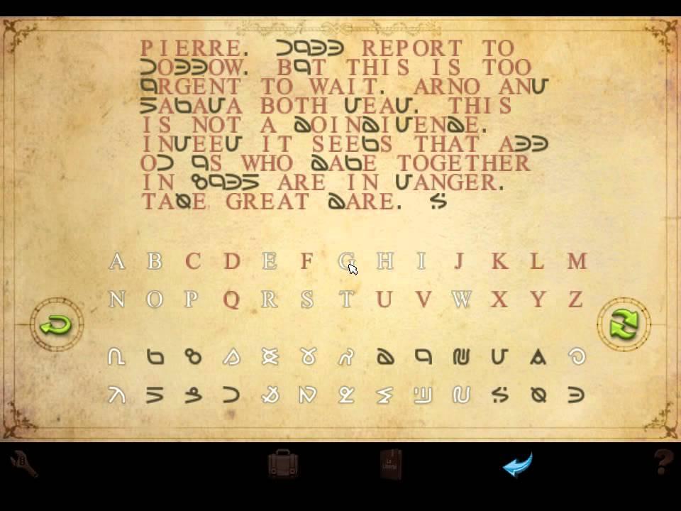 Broken Sword: Shadow of the Templars  decode a code