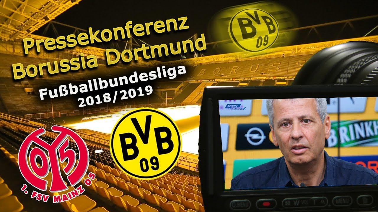 1. FSV Mainz 05 - Borussia Dortmund: Pk mit Lucien Favre und Michael Zorc