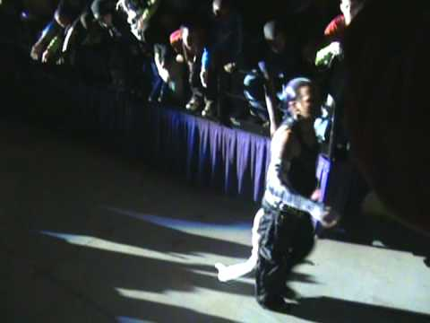 WWE Jeff Hardy entrance at Greensboro Coliseum.