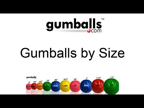 What are the Different Sizes of Gumballs?
