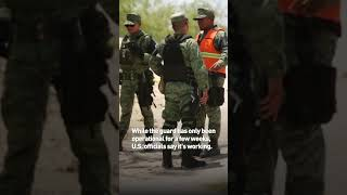 Mexico has a new national guard, and their first duty is helping the U.S.