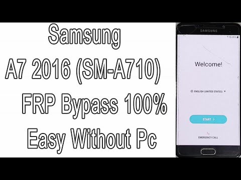 Samsung A7 2016 (SM-A710) FRP Bypass 100% Easy Without Pc | Google Account Remove | Android 7.1