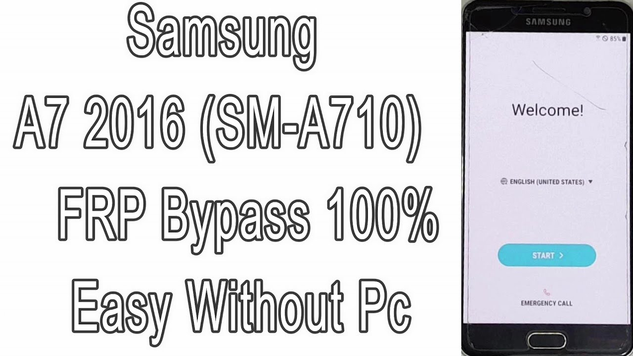 Samsung A7 2016 (SM-A710) FRP Bypass 100% Easy Without Pc | Google Account  Remove | Android 7 1